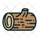 Wooden Log Forest Icon