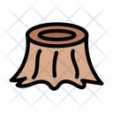 Wood Cut Forest Icon