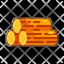 Flat Lumber Timber Icon