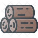 Wood Log Cut Icon