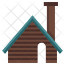 Wood Cabin Shelter Cottage Icon