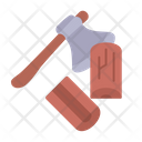 Wood Chopping Lumberjack Icon