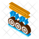 Wood Trunk Drying Icon