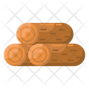 Wood Logs Logging Wood Stack Icon