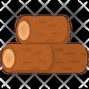 Timber Wood Logs Lumber Icon