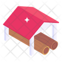 Shed Wood Logs Shed Shack Icon
