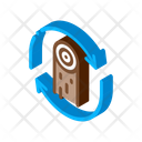 Wood Material Cicle Icon