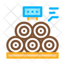 Wood Trunks Production Icon