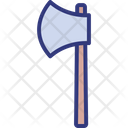 Outdoors Woodchopping Axe Icon
