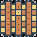 Wooden Timbered Lumbar Icon