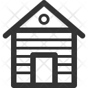 Wooden House Camping Icon