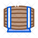 Wooden Barrel Wine Icon