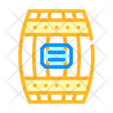 Wooden Barrel Color Icon