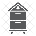 Wooden Beehive Farming Icon