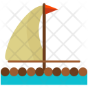 Wooden Float Boat Icon