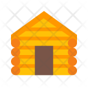 Log Cabin Wooden Icon