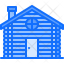 Log Building Architecture Icon