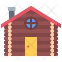Log Building House Icon