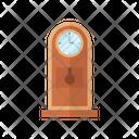 Wooden Clock Furniture Interior Icon