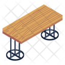 Wooden Table Wooden Desk Furniture Icon