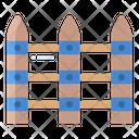Wooden Fence Fences Feneces Icon
