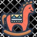 Wooden Horse Handmade Horse Icon