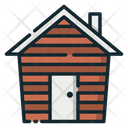 Wooden House Cold Protection House Icon
