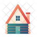 Cabin Wooden House Home Icon