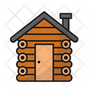 Wooden House Cabin Int The Woods Cabin In The Woods Icon