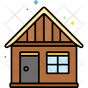 Mhut Wooden Hut House Icon
