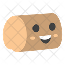 Wooden Log Smiley Icon