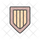 Medieval Wood Shield Icon