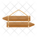 Wooden Signboard Icon