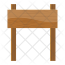 Wooden Signboard Billboard Hoarding Icon