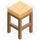 Wooden Stool Icon