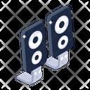 Audio Speaker Woofers Sound System Icon