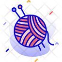 Wool Ball Knitting Needles Icon
