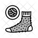 Wool Material Sock Icon