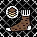 Winter Warm Sock Icon