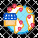 Wordwide Shop Location Icon