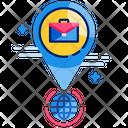 Independent Work Entrepreneur Location Icon