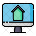Work At Home Home Laptop Icon
