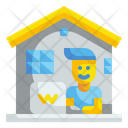 Work At Home Teleworking Professions Icon