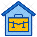 Work At Home Office Stay Workplace Online Icon
