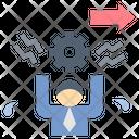 Stress Overwork Workaholic Icon