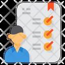 Skills Human Resource Document Icon