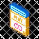 Groundhog Day Isometric Icon