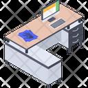 Work Desk Workplace Workstation Icon
