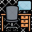 Work Desk Work Station Icon