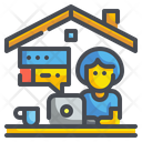 Work Form Home Work At Home Working Icon